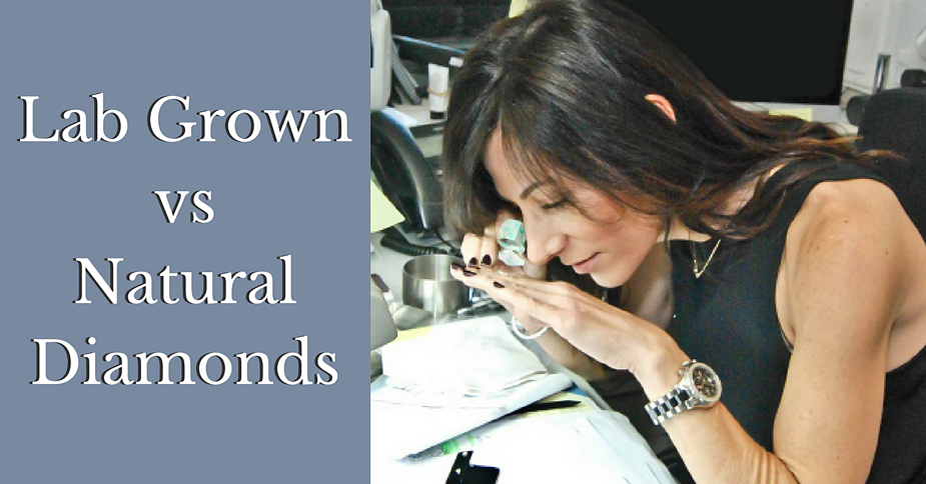 Karen Rosengart analyzes a diamond to determine if it is lab grown or natural