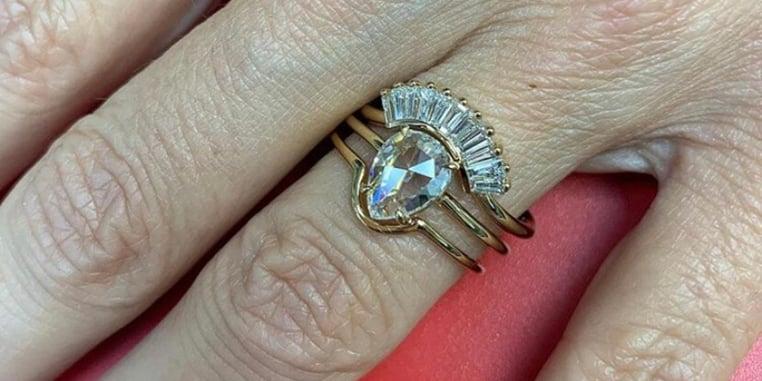 A diamond engagement ring