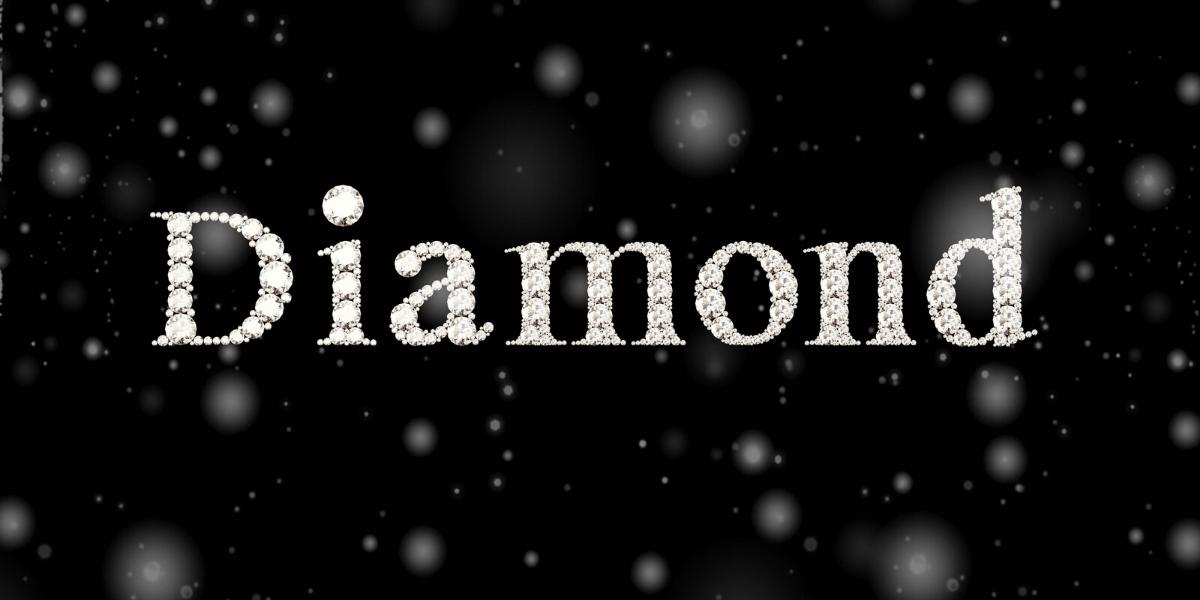 The word diamond formed by melee diamonds