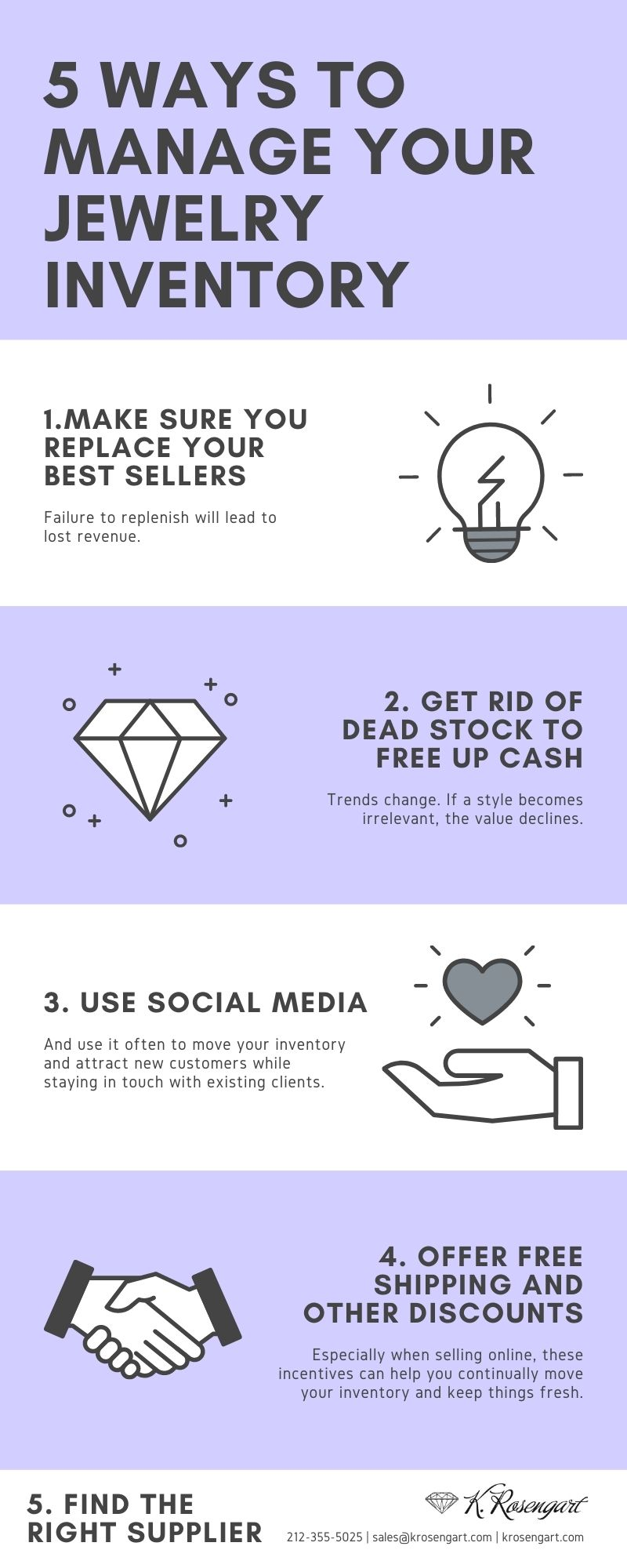 5 Ways to Manage Your Jewelry Inventory | Infographic | K. Rosengart