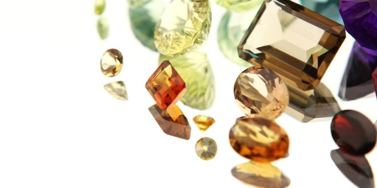 An array of colored precious gemstones available to buy wholesale